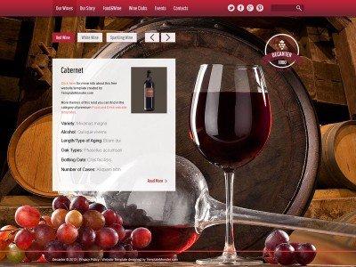 ภาพ Feature - ฟรี HTML5 Template สำหรับสร้างเว็บไซต์ ธุรกิจไวน์