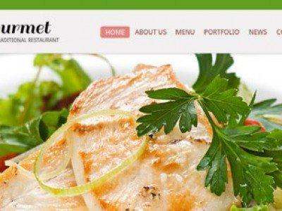 ภาพตัวอย่างหน้าแรก - สร้างเว็บไซต์ ร้านอาหาร ด้วย ฟรี HTML5 Template