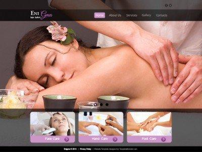 ภาพตัวอย่างหน้าแรก - ฟรี Template สร้างเว็บไซต์ สำหรับธุรกิจสปา