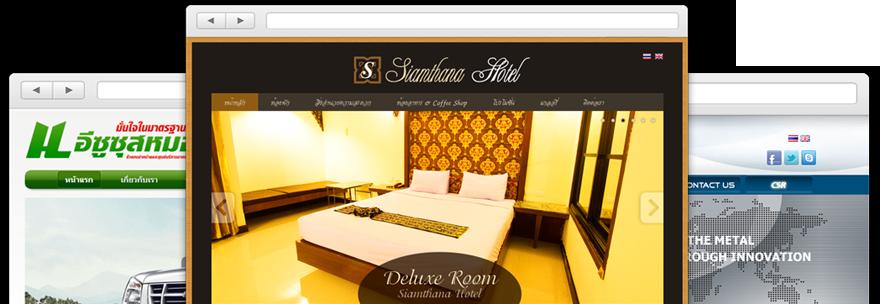 รูปตัวอย่างผลงานออกแบบเว็บไซต์