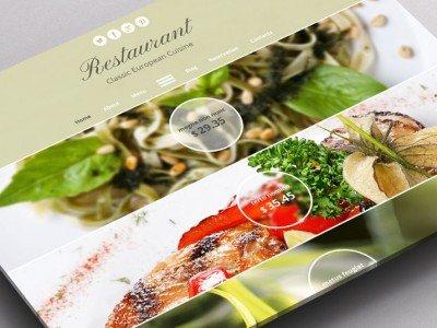 แจก Template ฟรี สำหรับร้านอาหารแนวยุโรป