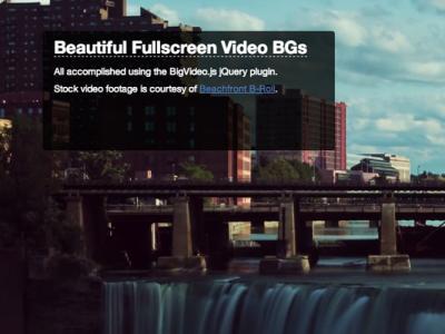 fullscreen background plugin jquery tutorial preview screenshot